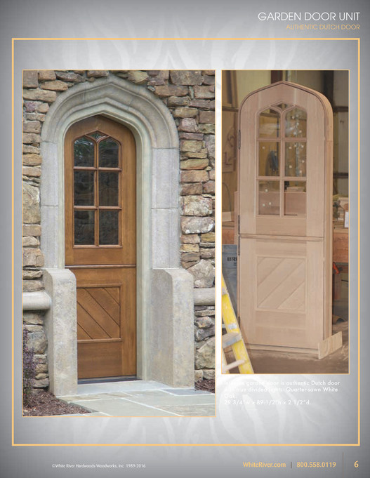 GARDEN DOOR UNIT AUTHENTIC DUTCH DOOR GARDEN DOOR UNIT AUTHENTIC DUTCH DOOR Intimate garden door is & White River - Architectural Doors - Page 6-7