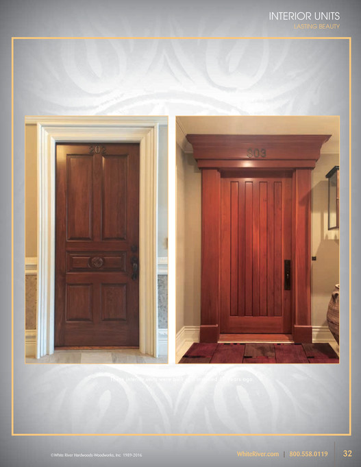 INTERIOR UNITS LASTING BEAUTY White River?s doors are made to last! These interior units were & White River - Architectural Doors - Page 32-33