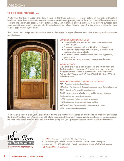 WELCOME To The Design professional  White river hardwoods-Woodworks inc. located  sc 1 st  White River Hardwoods & White River - Architectural Doors - Page 2-3